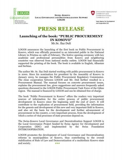 Press Release - book launching logos.pdf - HELVETAS