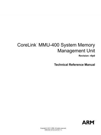 corelink mmu 400 system memory management unit technical rh yumpu com arm r5 technical reference manual arm r5 technical reference manual