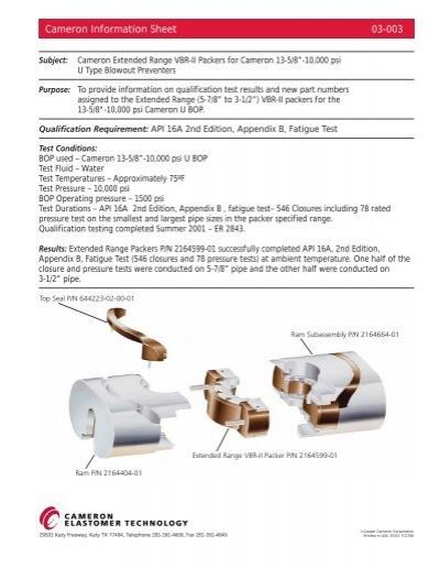 Cameron Information Sheet 03-003 - cedip