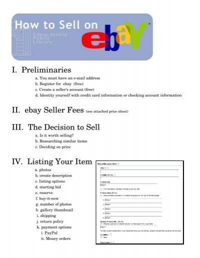 Selling On Ebay Edwardsville Public Library