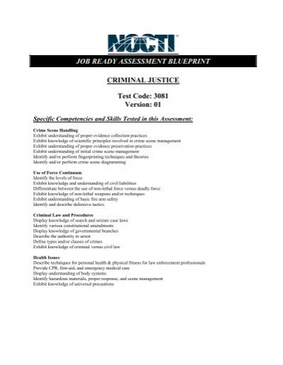criminal justice 5169 w rh yumpu com Basic Maintenance Test Industrial Maintenance Mechanic