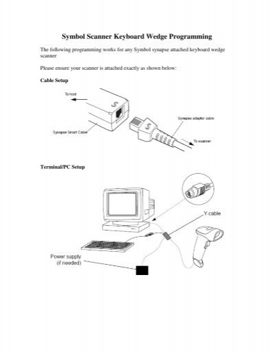 Symbol Scanner Keyboard Wedge Programming Scansource