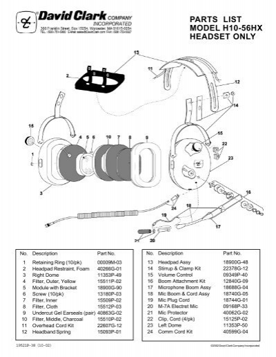 david clark h10 76 wiring diagram david clark serial number  u2022 creativeand co Clark Transmission Chevy Wiring Diagrams