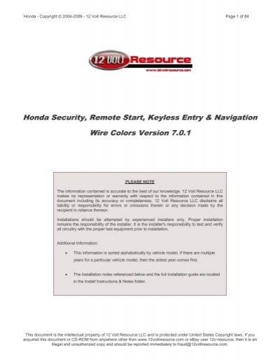 Honda security remote start keyless entry navigation wire honda security remote start keyless entry navigation wire publicscrutiny Gallery