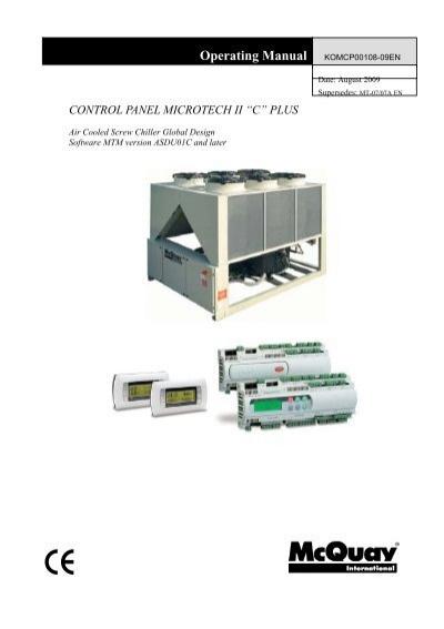 Control panel microtech ii c plus mcquay control panel microtech ii c plus mcquay asfbconference2016 Images