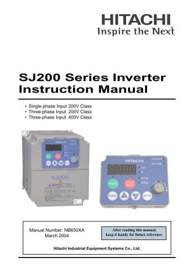 hitachi sj200 series inverter instruction manual rh yumpu com hitachi sj200 series inverter instruction manual hitachi sj200 series inverter instruction manual