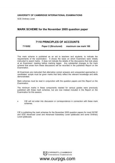 Principles Of Accounts MS P2 O N