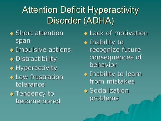 an analysis of attention deficit disorder