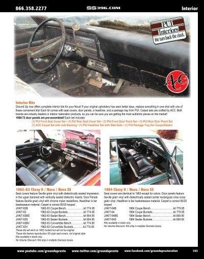 PUI Nova SS Black Front Door /& Coupe Rear Panels 1963 Chevy II