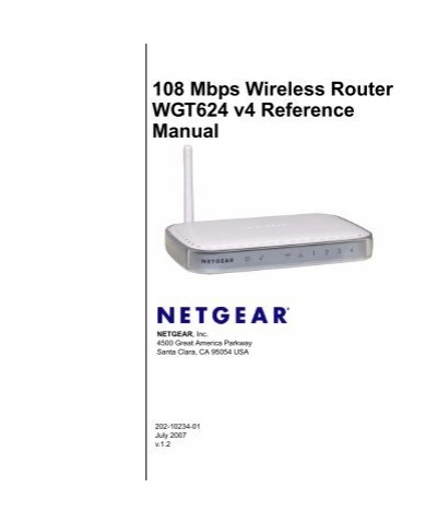 108 mbps wireless router wgt624 v4 reference manual netgear rh yumpu com netgear wireless router wgr614.v4 manual Netgear Model WGR614
