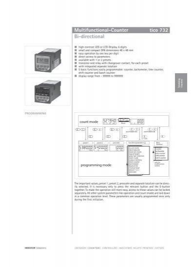 Tico 007 multifunctional-counter bi-directional tico 732.