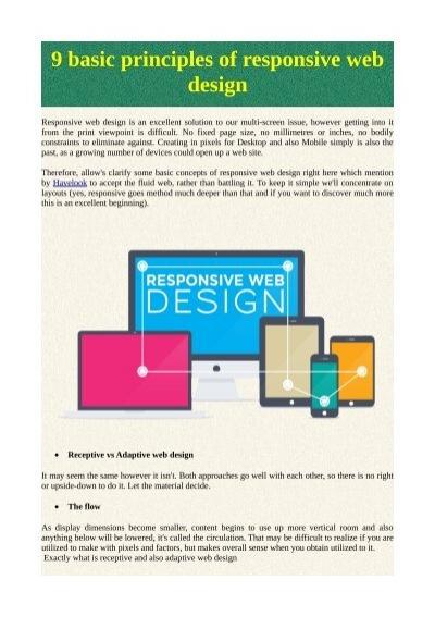 9 Basic Principles Of Responsive Web Design
