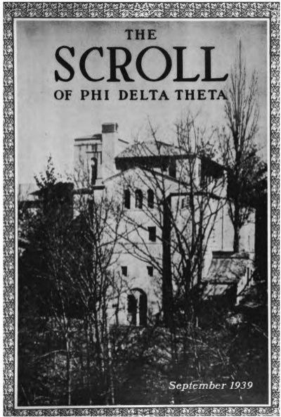 1939–40 Volume 64 No 1–5 - Phi Delta Theta Scroll Archive