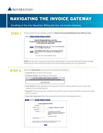 Navigating The Invoice Gateway The Iron Mountain Customer - Invoice gateway