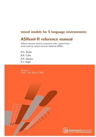Pdf) asreml user guide release 3. 0.