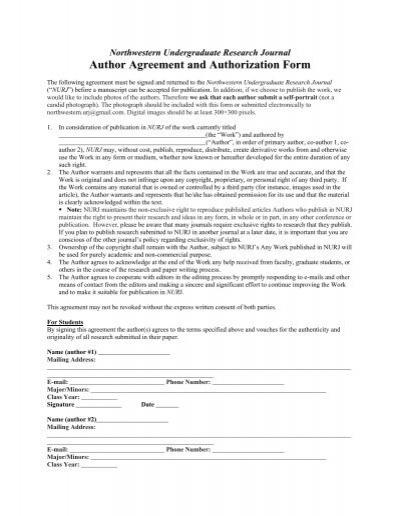 Author Agreement