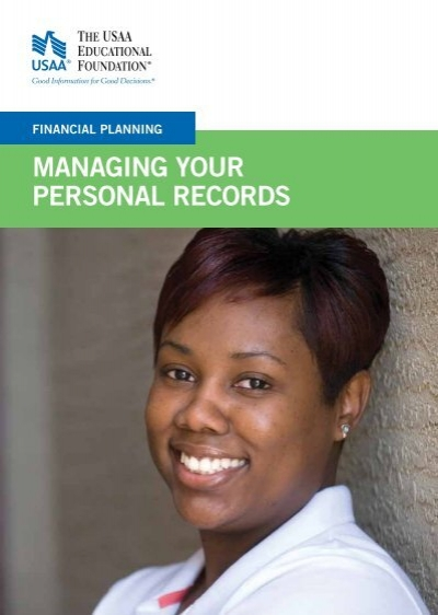 Managing Your Personal Records
