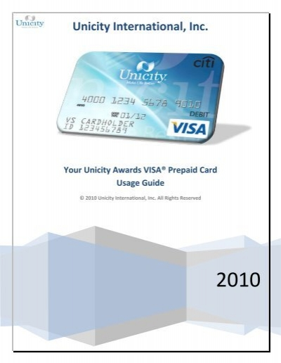 your unicity awards visa prepaid card - Visa Prepaid Travel Card