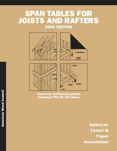 span tables for joists and rafters