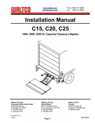 waltco hydraulic lift gate wiring diagram 3157 socket