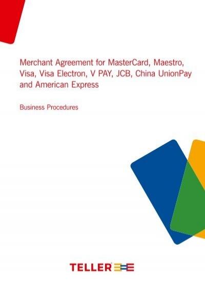 Merchant Agreement For Mastercard Maestro Visa Visa Nets