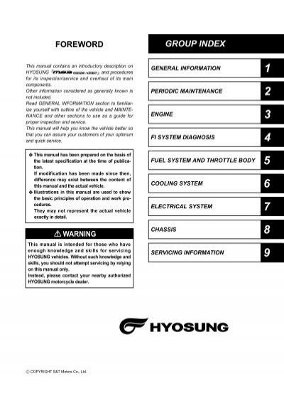 hyosung 125 manual taller