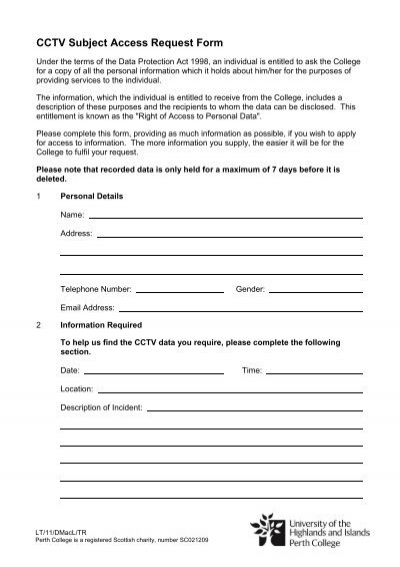 Subject Access Request Form Ofcom – Access Request Form