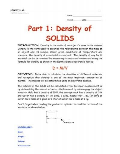 Part 1 density of solids new york science teacher ibookread PDF