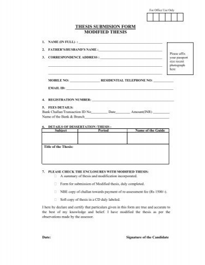 dnb modified thesis submission form