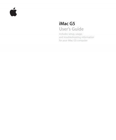 Imac G5 Isight User S Guide Manual Support Apple