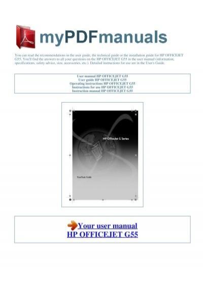 user manual hp officejet g55 1 rh yumpu com HP Officejet Pro 8500 Problems HP Officejet Pro 8500A Troubleshooting