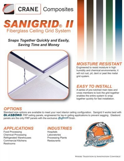 Fiberglass Ceiling Grid System Crane posites