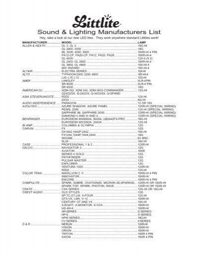 Lovely Sound U0026 Lighting Manufacturers List   Balanced Technology Gallery
