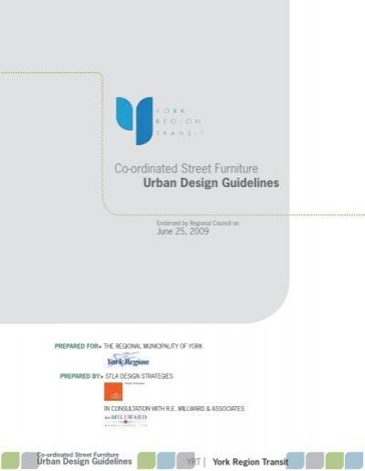 Street Furniture Design Guidelines co-ordinated street furniture urban design guidelines
