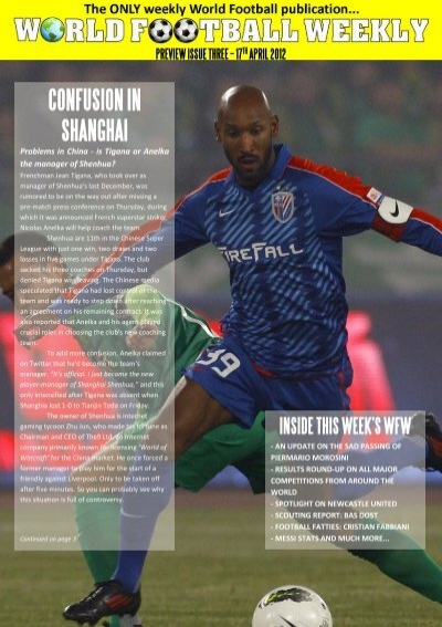 17th April 2012 Confusion In Shanghai World Football Weekly
