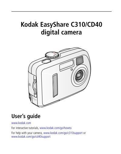 kodak easyshare cd40 software