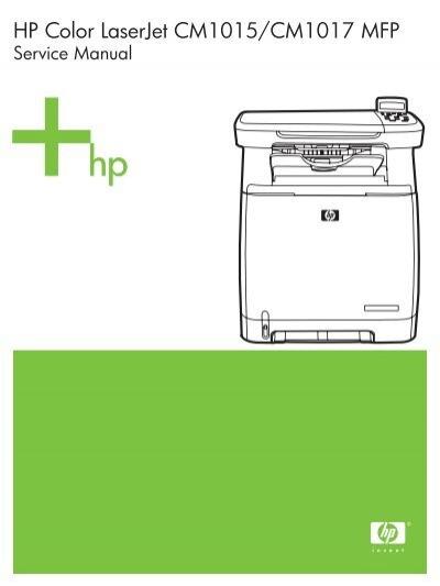 Free download hp color laserjet cm1015 cm1017 english maintenance.