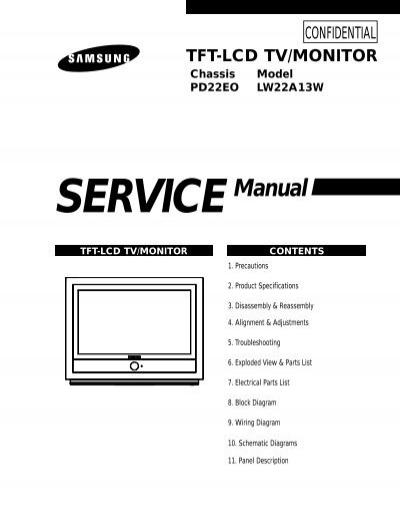 samsung lw22a13wx pdf