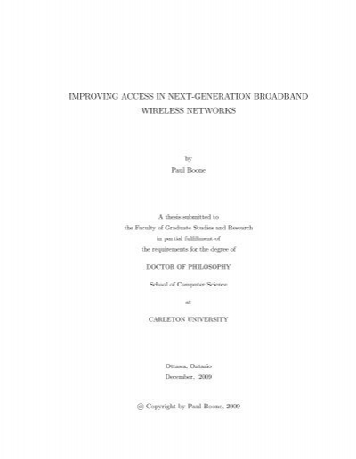 Phd thesis wimax