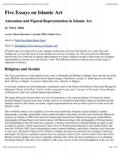 terry allen five essays on islamic art Working notes nov 12 allen, terry, aniconism & figural representation in islamic art, in: five essays on islamic art.