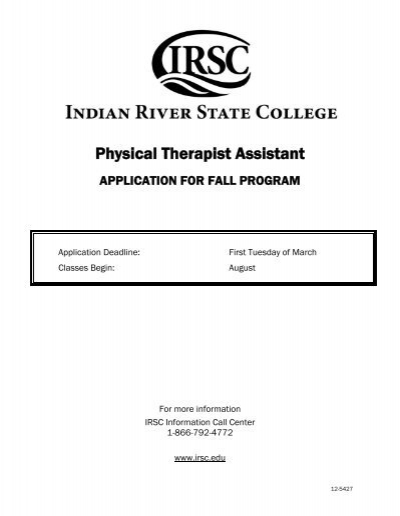 Physical Therapist Assistant - Indian River State College