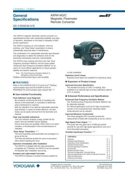 yokogawa magnetic flow meter manual