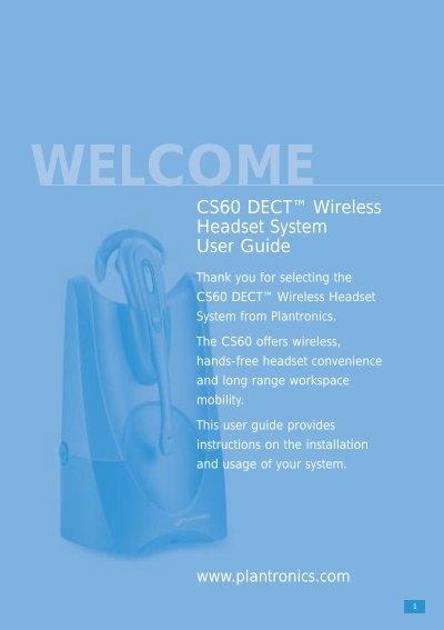 Plantronics Cs60 User Manual Oz1db