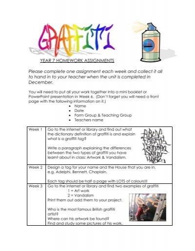 Year 7 Graffiti Project Friern Barnet School