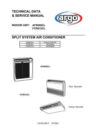 technical data service manual split system air conditioner package rh yumpu com York Air Conditioner Whirlpool Portable Air Conditioner Manual