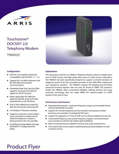 Product Flyer - Arris