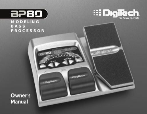 bp80 manual pdf digitech rh yumpu com Digitech RP90 Newest Digitech Effects Processor Rp 80
