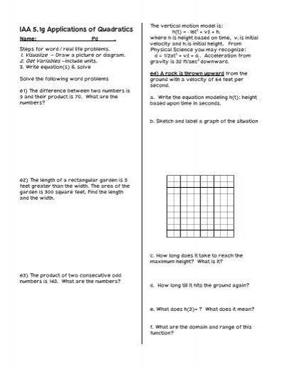 quadratic word problems worksheets solving quadratic equations problems we can do your. Black Bedroom Furniture Sets. Home Design Ideas