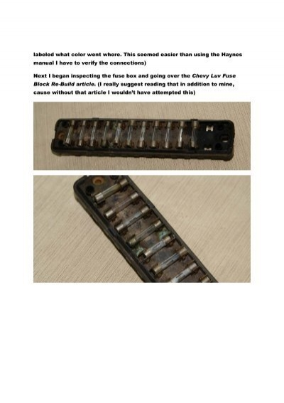 fuse block repair article pdf luvtruck com