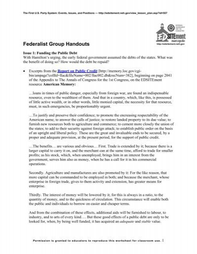 federalists and democratic republicans worksheet 1 edsitement. Black Bedroom Furniture Sets. Home Design Ideas